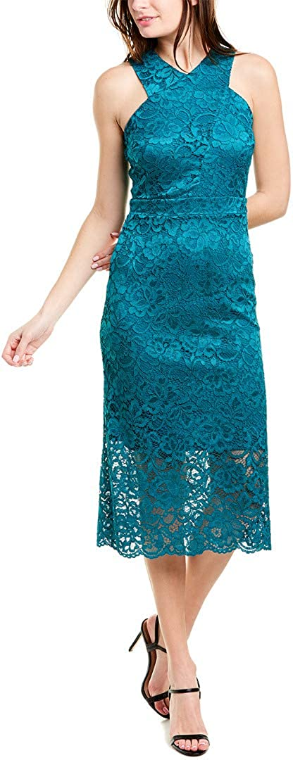 Sam Edelman Women's Sleeveless All stores are sold Criss Lace Neck Sheath 1 year warranty Dres Cross