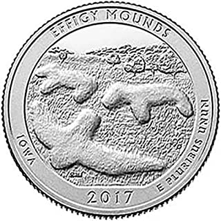 2017 S Silver Proof Effigy Mounds, Iowa National Park NP Quarter GEM Proof US Mint