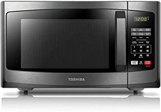 Toshiba EM925A5A-BS Microwave Oven with Sound On/Off ECO Mode and LED Lighting, 0.9 Cu.ft, Black Stainless (Renewed)