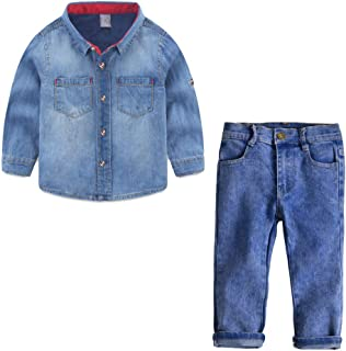Baby Toddler Boys Clothes Formal Sets Wedding Suit 1-6 Years Old Kids Gentleman Stripe T-Shirt Plaid Pants Outfit