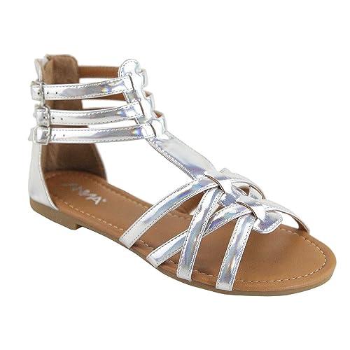 fb34834f375 ANNA Mavis-8 Women Buckle Zip Gladiator Sandal