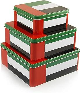 Uae National Day Metal Storage Box, 3 Piece - Tn-2906