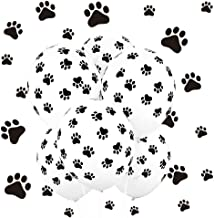 Koogel Print Latex Balloons,12''100 Pcs Paw Party Balloons Paw Print Latex Balloons for Weddings, Birthdays, Party Decorations