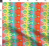 Frieden, Peace Zeichen, Fetzig, Hippie, Retro, Bunt Stoffe