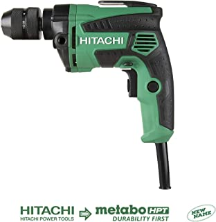 Hitachi D10VH2 3/8 inch Corded Drill, Variable Speed Trigger, Metal Keyless Chuck, 7.0 Amp, 0-2,700 RPM, 5 Year Warranty (Discontinued by the Manufacturer)