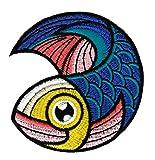 Fisch Aufnäher Bügelbild