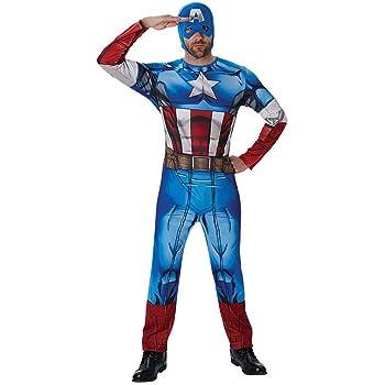 Traje hombre superhéroe Disfraz Capitán América M/L 48/54 Ropa ...