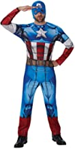 Traje hombre superhéroe Disfraz Capitán América M/L 48/54 Ropa vengadores marvel Disfraz heroico varón Atuendo cómic héroe Vestimenta héroe américa