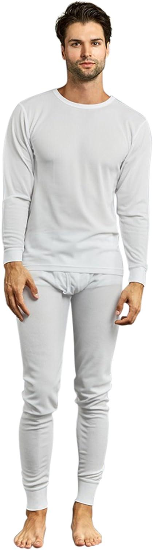 Men's Thermal Crew Neck Top & Bottoms Long Johns Underwear Set