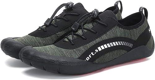 SELCNG Chaussures Nautiques Chaussures de Sport Nautiques à séchage Rapide, Pieds nus-vert-46