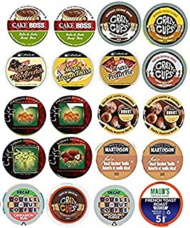 20 Cup Flavored DECAF Coffee Sampler! 16 Different Flavored DECAF Only Coffee Single Serve Cups....Butter Toffee Decaf...Dulce De Leche Decaf....Caramel Cookie Crunch Decaf +