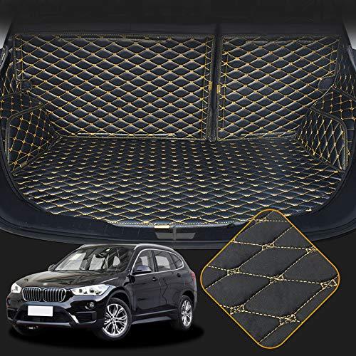 OREALTECH Kofferraummatte Auto für BMW X1 F48 2016-2019 Allwetter XPE Leder Kofferraumwanne 3D All-Inclusive-Stil Schmutzfangmatte