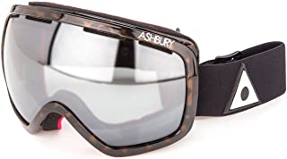 Ashbury Bullet Snow Goggles Brown Tortoise With Silver Chrome & Yellow Lens