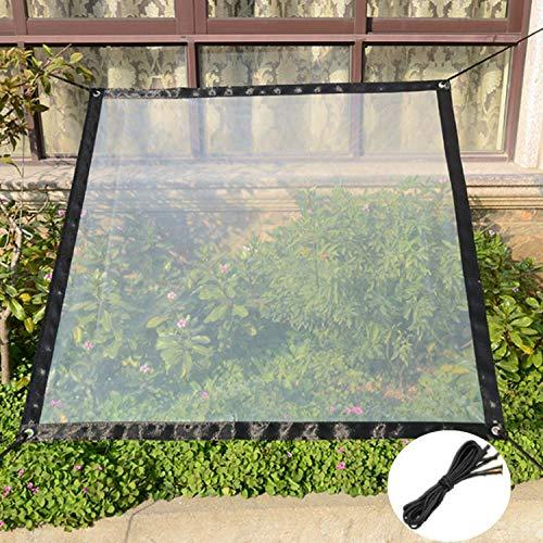 Guangyu wasserdichte Transparente Plane Vordächer und Planen, strapazierfähige, transparente, wetterfeste Plane, faltbar, Pflanzendach, Regenschutz, Seil enthalten (2m*2m)