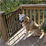 Cardinal Stairway Special Outdoor Pet Gate - Black