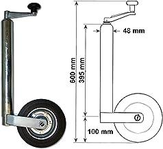 362kg - DM 48mm Vollgummi Anhänger Stützrad mit Stahlfelge