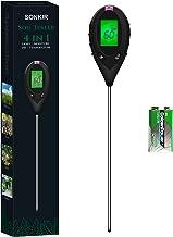 Sonkir pHmetro del Suolo, Kit di Attrezzi da Giardinaggio per Tester di umidità/Luce/PH/Temperatura 4-in-1 per la Cura del...
