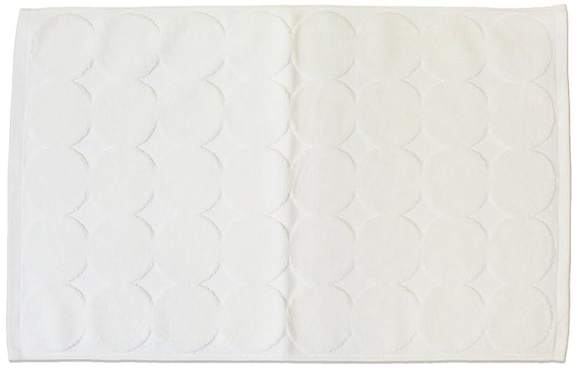 ノミネート見込み直径今治タオル バスマット メンカ?マチュア ホワイト 約45×70cm