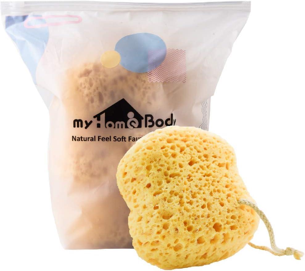 myHomeBody Premium Bath Sponge, Foam Loofah Sponge, Body Sponge for Shower - Large Size, Lots of Lather, 3 Pack: Health & Personal Care