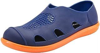 Yaunli - Sandalias unisex para hombre con zuecos al aire libre, sandalias transpirables, zapatos de playa al aire libre, s...