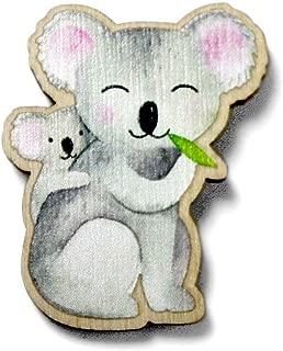 Elsterchen Brosche aus Holz f/ür Kinder *** Hamsterbacke ***