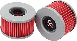 MOTOKU Pack of 2 Oil Filter for Honda Rancher 400 Foreman Rubicon 500 Rincon 650 680 TRX680 400 500 650 ATV