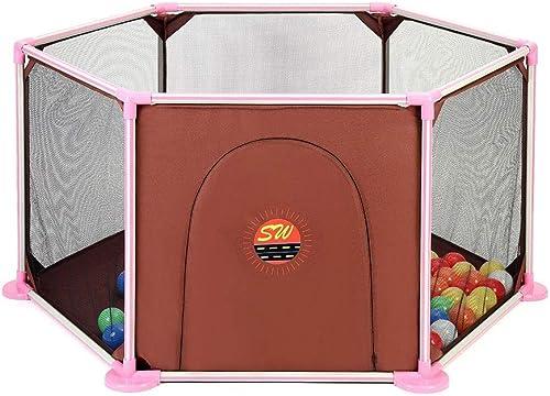 YOUXD Tragbarer, Unabh iger Spielplatz Mit 6 Feldern (Farbe   braun)