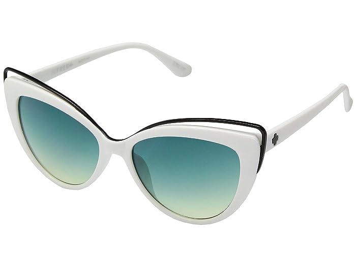 Spy Optic Julep (White/Turquoise Fade) Fashion Sunglasses