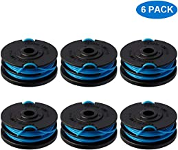 Thten Trimmer Spool Replacement for Greenworks 2900719 20ft 0.065 inch with Greenworks 2101602 and 2101602A Dual line String Trimmers 6 Pack