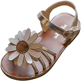Lonshell -Zapatos de bebé, Niña Flores Zapatos Verano Zapatos de Princesa Sandalias para 0-8 años Casual Fiesta Diario