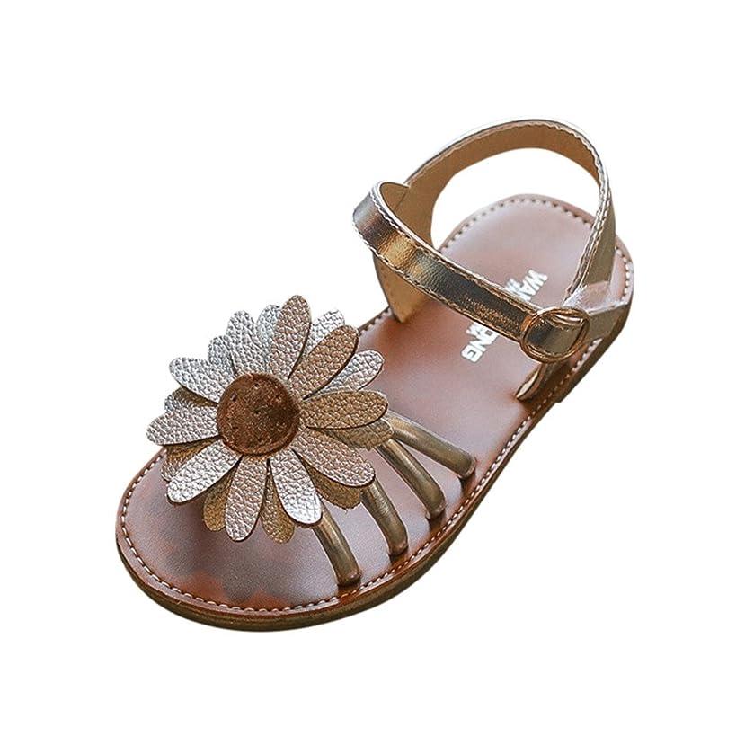 ?QueenBB? Baby Girl Sandals Shoe,Toddler Kids Baby Princess Shoes Girls Sandals Flower Roman Sandals Princess Shoes