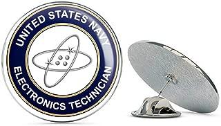 US Navy Electronics Technician ET Military Veteran USA Pride Served Gift Metal 0.75