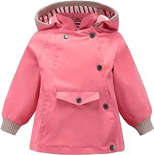 ACESTAR Waterproof Rain Jacket Coat Windbreaker Windproof Spring Fall Raincoat