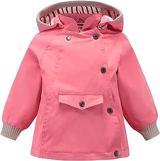 Waterproof Rain Jacket Windproof Toddler Girls Boys Coat Windbreaker Raincoat