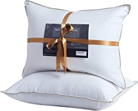 Lofe Bed Pillows for Sleeping, King Size, Goose Down Alternative Pillow 2 Pack, Luxury Cotton Cover, Super Soft Plush Fiber Fill, Adjustable Loft, Relieve Neck Pain, for Side and Back Sleeper