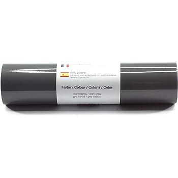 Lámina de plotter autoadhesiva lámina de vinilo 21 cm x 3 m brillo 39 colores a elegir, Glänzend L-Serie:Gris Oscuro: Amazon.es: Hogar
