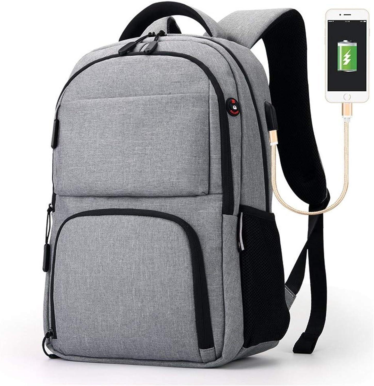 Rucksack 15,6-Zoll-Notebook Rucksack USB-Port Kopfhrer Port Computer Tasche Business Wasserdichte Reisetasche Mnner und Frauen Schultasche dunkelgrau
