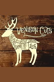 Deer or Venison Cuts Butcher Shop Diagram Cool Wall Decor Art Print Poster 12x18