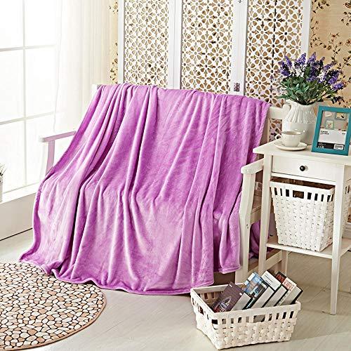 Decke Decke dicke warme Decke Decke Flanell-Blätter, hellviolett_200 * 230cm