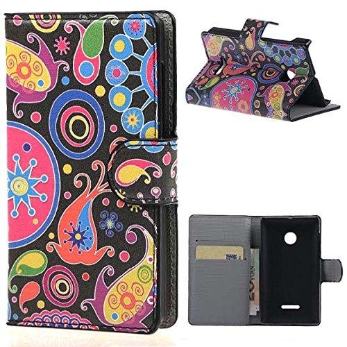 weixin TM PU Leather Cover Case per Nokia Microsoft Lumia 532 Cover Case Protettivo Coprire Pelle Guscio Sacchetto Wallet/Card Slots (282#)