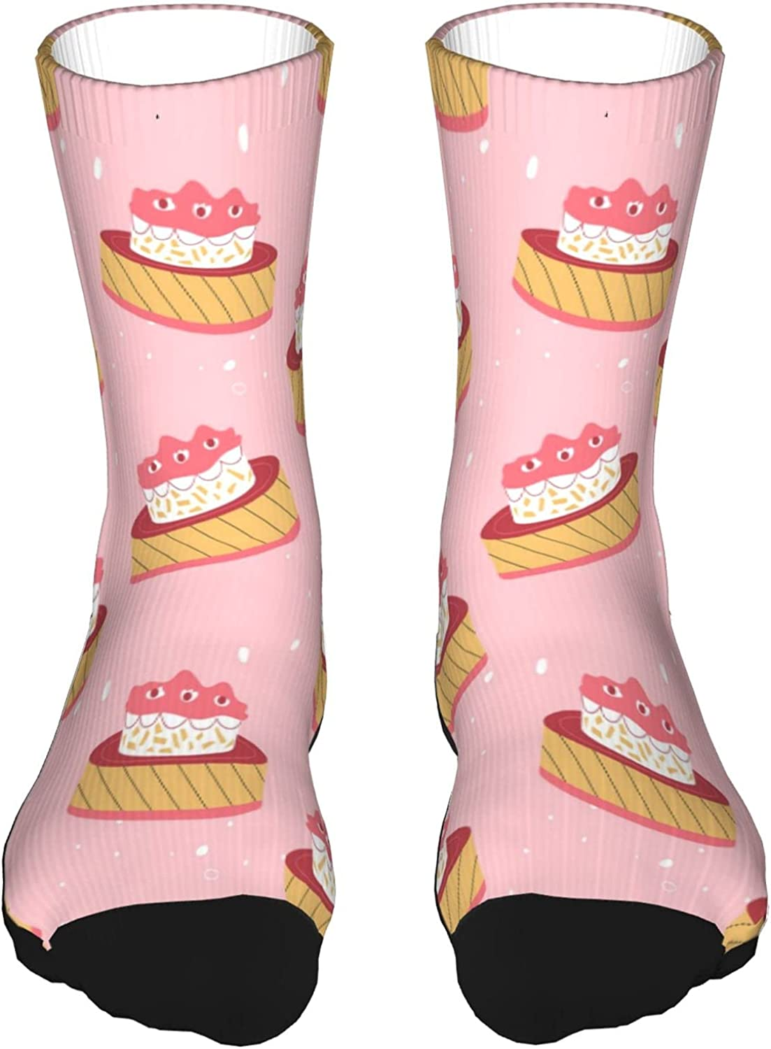 Thick Contrast Color Socks Confectionery Cake Athletic Novelty Fashion Sockscrew For Men Women
