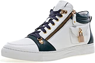 Jump J75 Men's Zappa Round Toe Leather Lace-Up Mid-Top Sneaker
