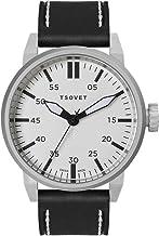 Tsovet SVT-FW44-110110-02 - Reloj analógico de Cuarzo para Hombre con Correa de Piel, Color Negro