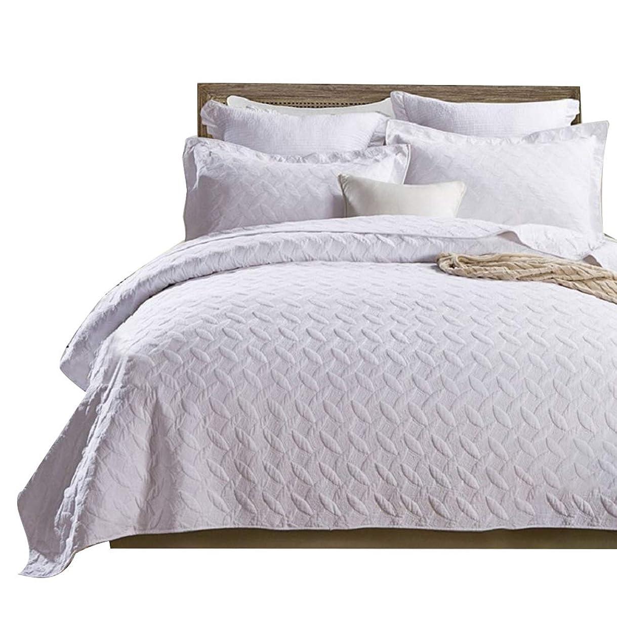 正直デコレーションが欲しいgardenlightess ベッドカバー ベッドスプレッド 3点セット おしゃれ ダブル 綿100% 230×250cm