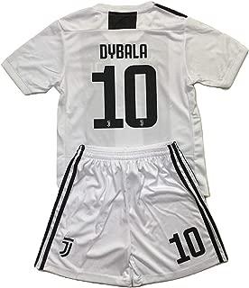 Youths Dybala #10 Juventus 2019 Home Soccer Jersey & Shorts Set