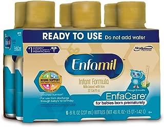 Enfamil EnfaCare Ready to Feed Premature Newborn Baby Formula Milk, 8 Fluid Ounce (24 count), Omega 3 DHA