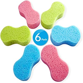 Car Wash Sponges, Multi-Use Absorbent Sponges,Easy Grip Sponge, Large sponges for Washing Cars, Bone Design Cleaning Polishing Foam for Dishes Washing, Vehicle, Bathroom and Kitchen Cleaning, 6Pcs
