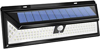 Outdoor Solar Lights 118 LED Motion Sensor Light Solar Powered Wide Angle Wireless Waterproof Outdoor Security Lights for Garage Patio Garden Driveway Yard-Auto,White Light