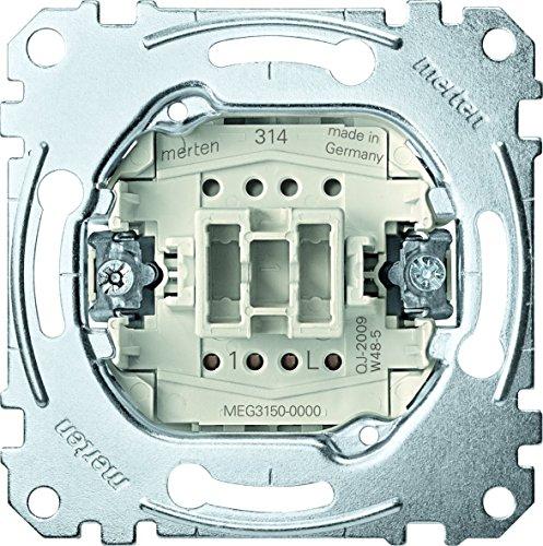 Merten MEG3150-0000 - Pulsador (1 polo, 10 A, 250 V CA, 2 unidades)