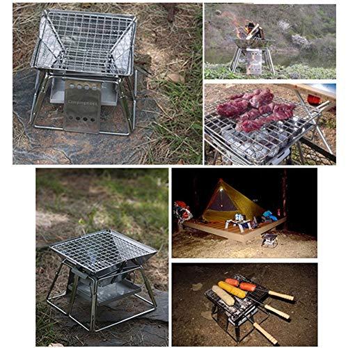 61X6Y4HyGvL - Lcb Grill im Freien Grill, klappbare, tragbare Kochen im Freien Werkzeug, Camping Wandern Picknick, tragbaren Holzkohle Innen- und Außengrill, Grillzubehör